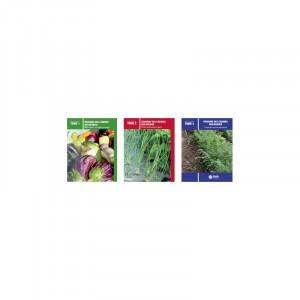 3 livres - Guide produire des légumes biologiques T1, T2 et T3
